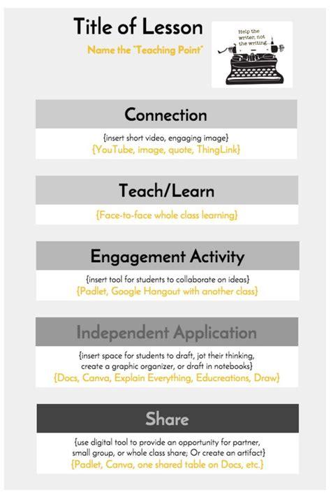 template workshop teacher resume template lesson plan