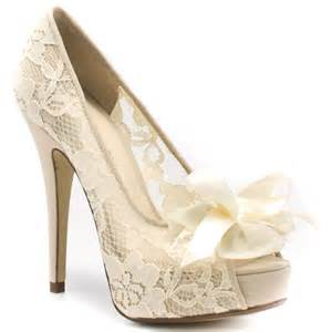 ivory bridesmaid shoes ivory lace wedding shoes the knot