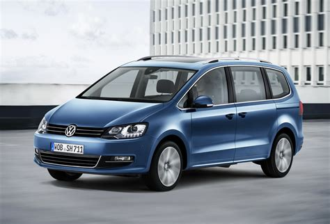 first volkswagen ever volkswagen has updated the sharan minivan for the first