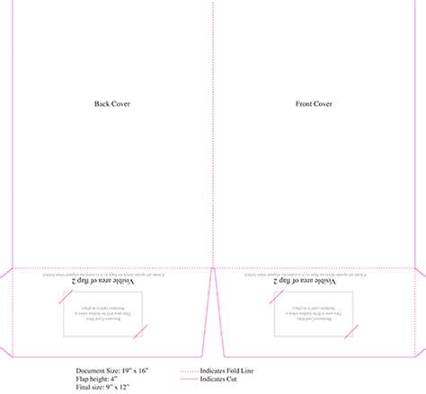 Pocket Folder Templates  Central Printing