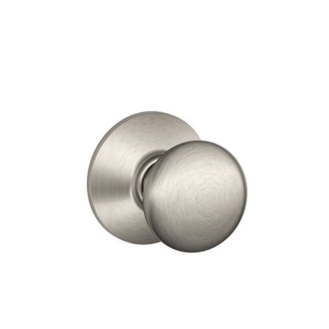 shop schlage plymouth satin nickel passage door knob