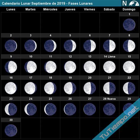 calendario lunar septiembre de fases lunares