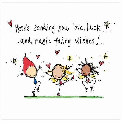 Wishes Luck Sending Birthday Fairy Job Cards