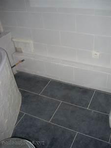 carrelage sol salle de bain gris peinture faience salle With salle de bain avec carrelage gris