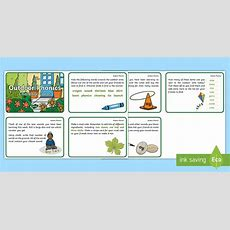 * New * Phase 5 Outdoor Phonics Challenge Cards  Forest School, Outdoor