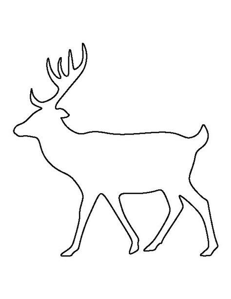 deer pattern   printable outline  crafts