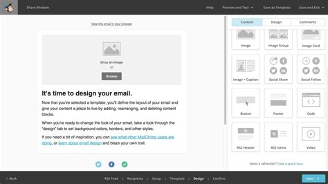 delete image mailchimp template how to automatically send posts to mailchimp
