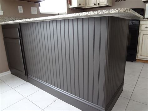 Black Beadboard Paneling by Adding Beadboard To Your Kitchen Island There S An Easier
