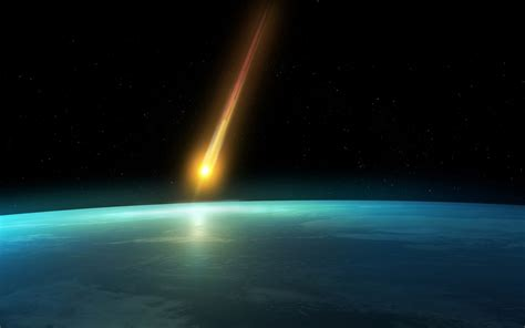 Falling Comet In The Earths Atmosphere Background Hd