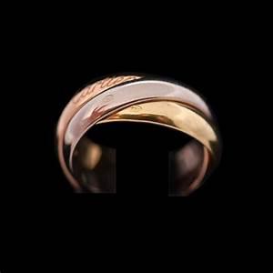Bague 3 Ors Cartier : bague cartier trinity petit mod le 3 ors ~ Carolinahurricanesstore.com Idées de Décoration