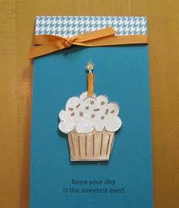 Geburtstagskarten Basteln Ideen : cupcake mit kerze auf der geburtstagskarte aufkleben bastelarbeiten pinterest karten ~ Watch28wear.com Haus und Dekorationen