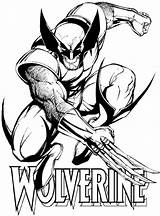 Wolverine Superheroes Coloring Drawings Drawing Pages Printable sketch template
