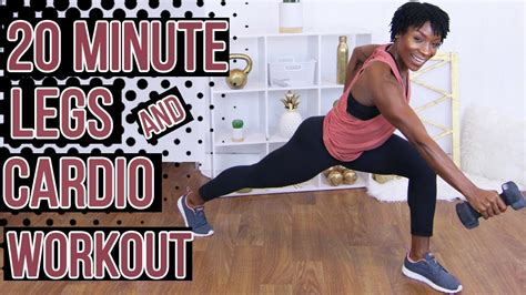 20 Minute Quick HIIT Legs and Cardio | At Home Fat Burning ...