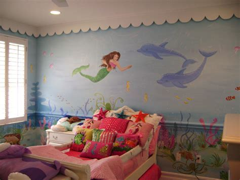 Sassy Coral Reef Child Room Mural   Children's mural,Mural