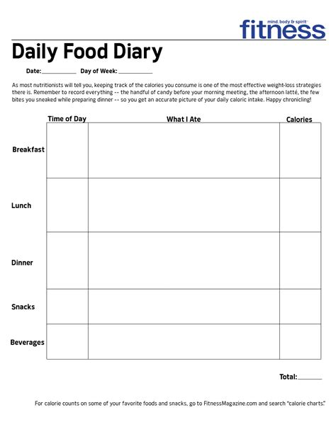 printable daily food intake chart printable daily food intake log daily food