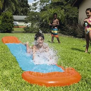Tapis Sous Piscine : tapis de glisse xxl g ant toboggan eau piscine une voie ebay ~ Melissatoandfro.com Idées de Décoration