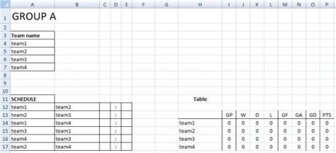 table tennis  robin score sheet  table ideas