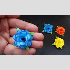 Rosen Basteln Mit Papier  Kleine Blumen Als Diy Deko