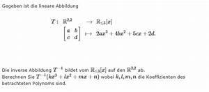 Inverse Berechnen : inverse einer linearen abbildung mathelounge ~ Themetempest.com Abrechnung