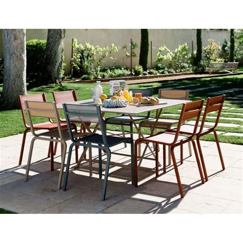 canapé gonflable extérieur table 128x128cm cargo fermob les jardins d 39 héméra