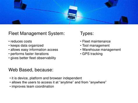 web based fleet management system