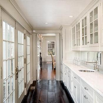 long butlers pantry  french casement cabinets transitional kitchen