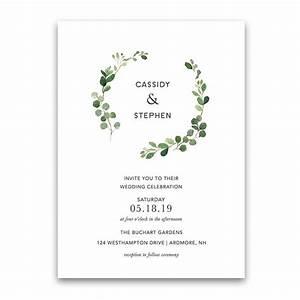 greenery wedding invitation bohemian eucalyptus wreath With free printable wedding invitations greenery
