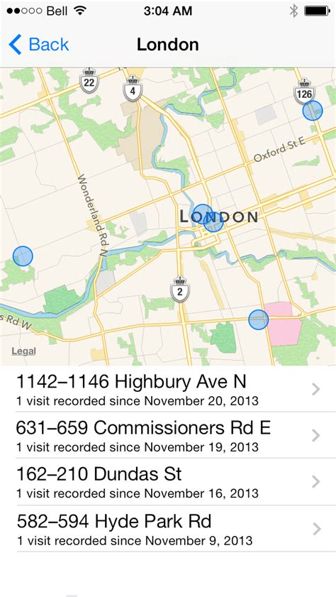 location history on iphone iclarified iphone how to view the location history of