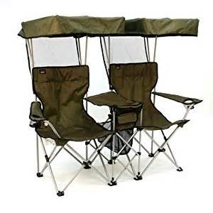 amazon com folding chair for two with individual