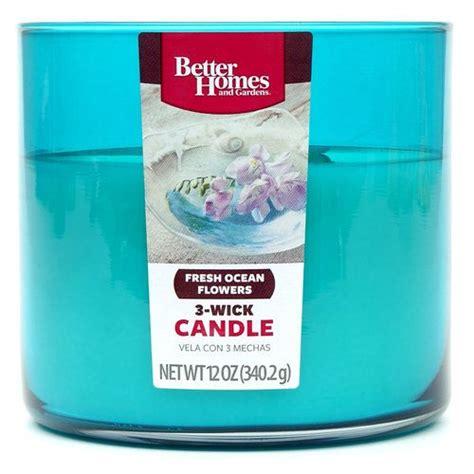 better homes and gardens candles better homes and gardens 12 ounce candle fresh ocean flowers other home walmart com work