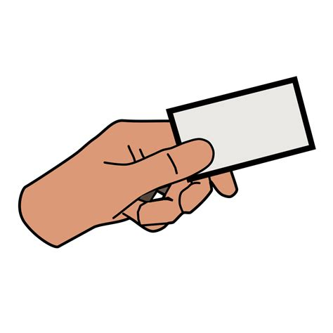 simple cartoon hand holding card png svg clip art  web