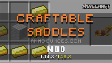 craftable saddles minecraft mod mods