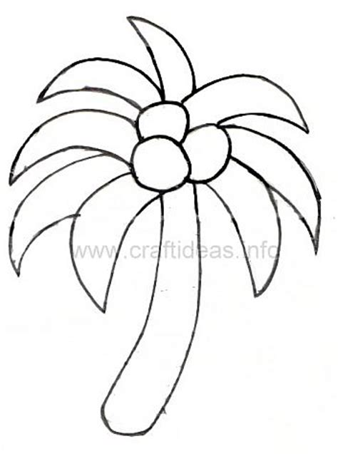 palm tree template free summer craft pattern palm tree