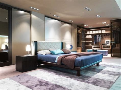 Small-bedroom-ideas-for-men-unique-black-table-lamp-block