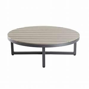 Table Basse Ronde Maison Du Monde : table basse de jardin ronde en composite et aluminium maisons du monde ~ Teatrodelosmanantiales.com Idées de Décoration