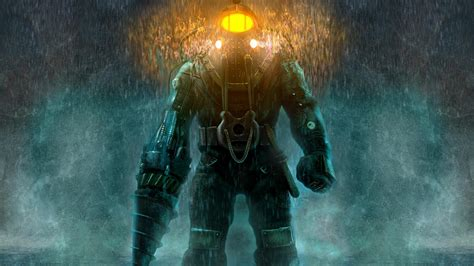 full hd wallpaper bioshock diving suit heavy rain flashlight desktop backgrounds hd p