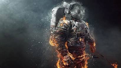 4k Nasa Astronaut Burning Ultra Imac Quad