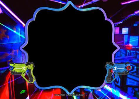 laser tag invitation templates bagvania