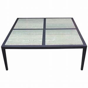 modern custom made large square coffee table with emerald With large square marble coffee table