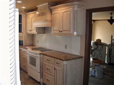 pickled oak cabinets google search white washed ish
