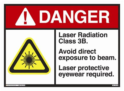 Safety Labels by 10x14 In Class 3b Laser Safety Label