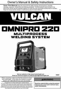 Manual For The 63621 Omni Pro U2122 220 Multiprocess Welder