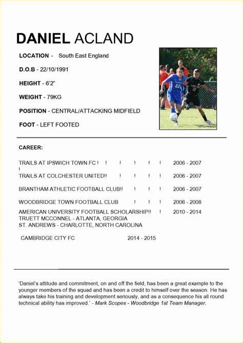 Soccer Resume Template by Soccer Player Resume Sle Topfreetorrentsites