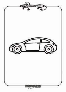 Free coloring pages of simple car