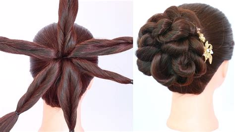 latest messy bun hairstyle  amazing trick party