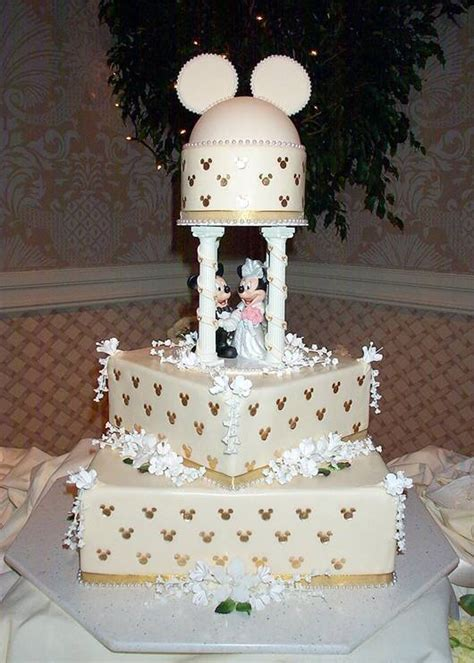 Disney Mickey and Minnie Wedding Cakes   DisneyFairyTales.com