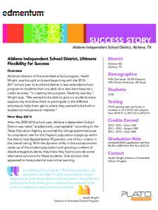 abilene independent school district plato courseware