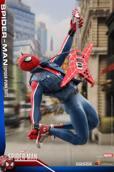 hot toys spider punk spider man sixth scale figure