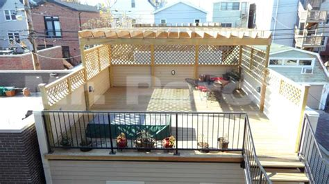 wooden rooftop decks pergolas construction gallery mr porch