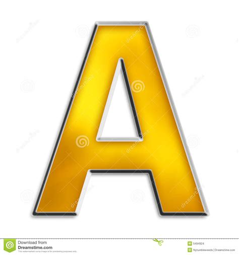 isolated letter   shiny gold stock images image